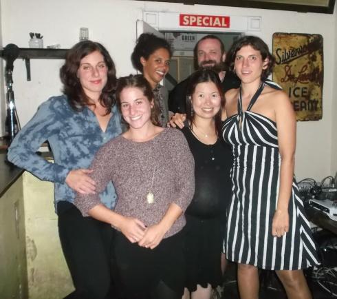 L-R: Lisa Bozikovic, Amanda Wyman, Kimberley Huie, Bonnie Chan, Zebulon Pike, Marsha Shandur
