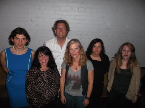L-R: Marsha Shandur, Irma Gagnon, Alan Cross, Laura Repo, Lisa Schwartzman, Laura Di Girolamo